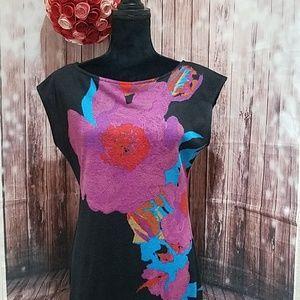 Johnny Martin light floral knit dress
